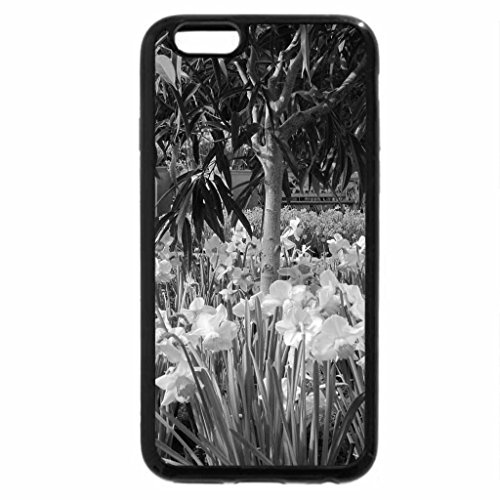 iPhone 6S Case, iPhone 6 Case (Black & White) - Pyramids Blooms Flowers 40