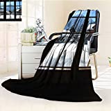 YOYI-HOME Original Luxury Duplex Printed Blanket, Hypoallergenic, Snow Outside The Window Warm Microfiber All Season Perfect for Couch or Bed/47 W by 59'' H