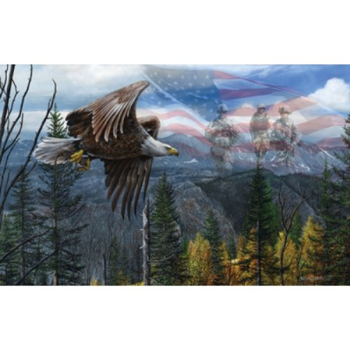 Freedom Army Star - May Freedom Fly Forever - USA Bald Eagle Puzzle - 550 pc Jigsaw Puzzle