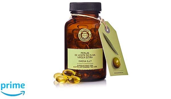Perlas de Aceite de Oliva Virgen Extra con OMEGA 3,6,9 - La Chinata: Amazon.es: Salud y cuidado personal