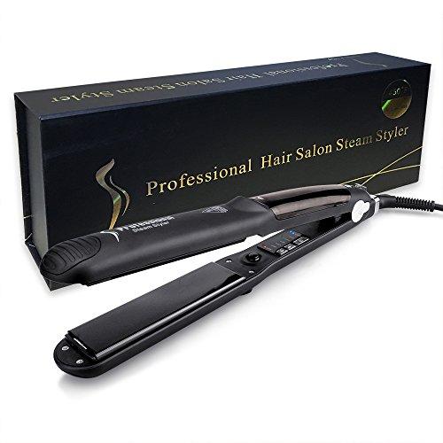 New Ceramic Steam Hair Curler Straightener Flat Iron Fast He