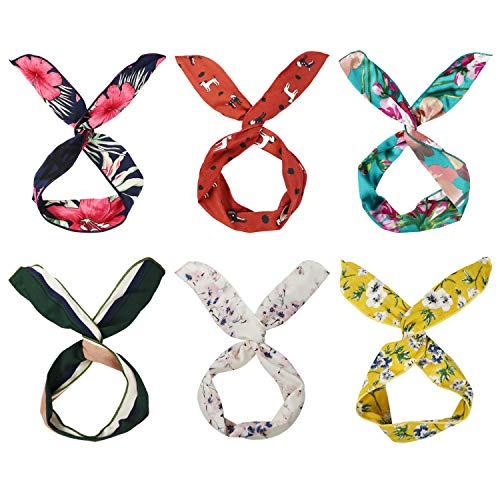 DRESHOW 6 Pack Bow Headband for Women Knotted