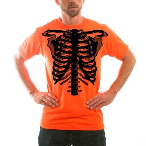[Vapor Apparel Zombie Skeleton Adult Halloween Short Sleeve T-Shirt XXX-Large] (Last Minute Halloween Costumes Ideas For Adults)