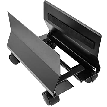 BeMatik - Soporte para Ordenador PC metálico con Ruedas de Color Negro de 95 a 230 mm: Amazon.es: Electrónica