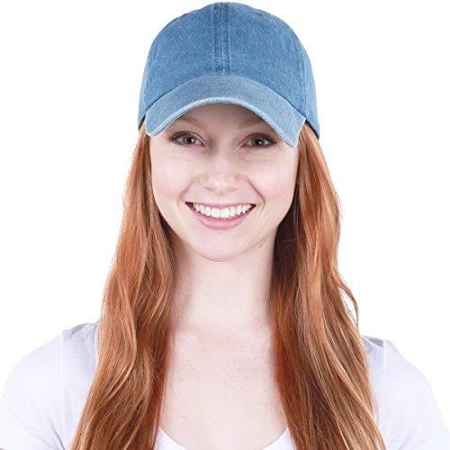 KB-LOW MDM Classic Cotton Dad Hat Adjustable Plain Cap. Polo Style Low Profile (Unstructured) (Classic) Medium Denim Adjustable