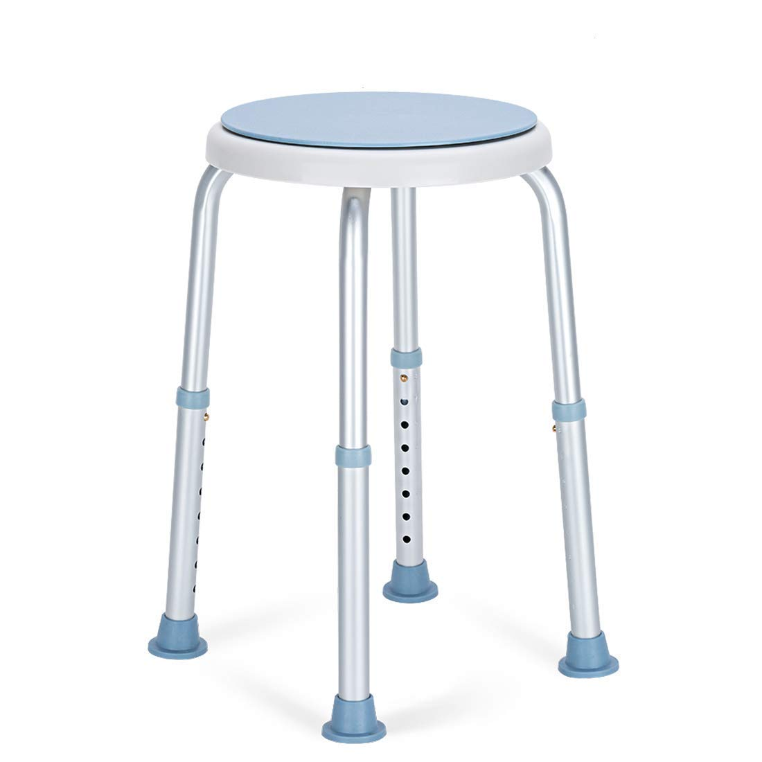 OasisSpace 360 Degree Rotating Shower Chair, Tool Free Adjustable Shower Stool Tub Chair and Bathtub Seat Bench with Anti-Slip Rubber Tips for Safety and Stability by OasisSpace