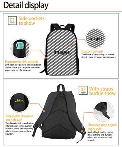 FOR U DESIGNS Children Backpack Set 3 Piece Wolf Head Lunch Handbag Cotton Pencil Case by FOR U DESIGNS (Image #1)