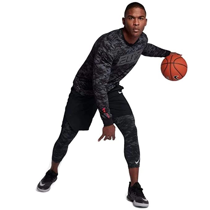 "5daafcfe79245 Image Unavailable. Image not available for. Color: Nike Mens PRO Dry  23"" Printed 3/4 Basketball Tights ..."
