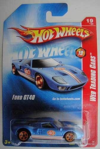 Hot Wheels Web Trading Cars 19/24, Blue Ford GT40 95/196