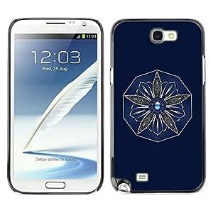 "For Samsung Note 2 N7100 , S-type Flor"" - Arte & diseño plástico duro Fundas Cover Cubre Hard Case Cover"