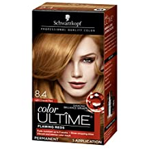 Schwarzkopf Ultime Hair Color Cream, 8.4 Light Copper Red, 2.03 Ounce