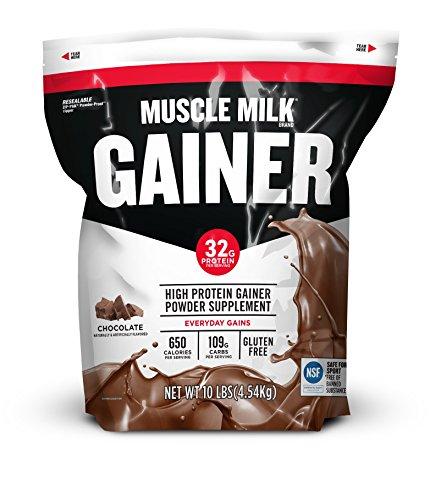Muscle Milk Gainer Protein Powder, Chocolate, 32g Protein, 10 Pound