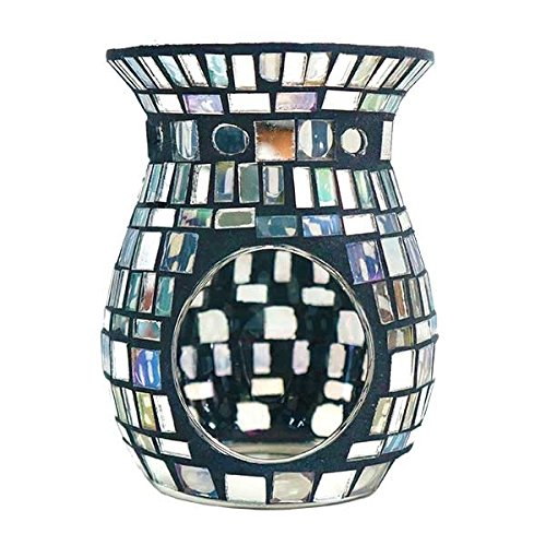 "Relaxus Venetian Mosaic Collection. Venetian Glass Candle Aroma Diffuser. 4.3"" x 5.5"" (Mosaic)"