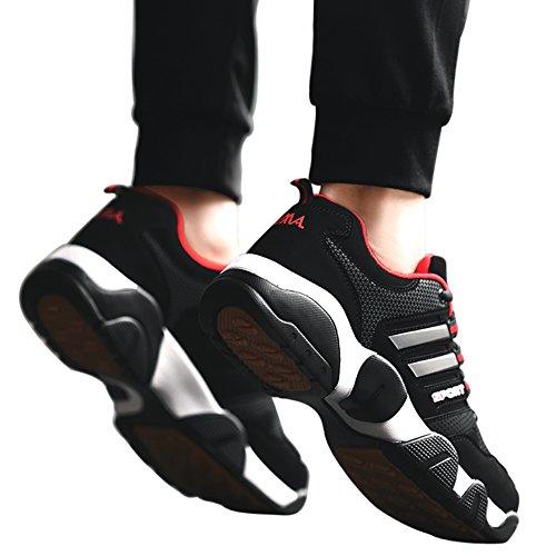 Scarpe Sportive Santimon Per Gli Uomini Che Corrono Corridori Atletici Cross-trainer Trail Camminando Allaperto Sneakers Causali Rosso