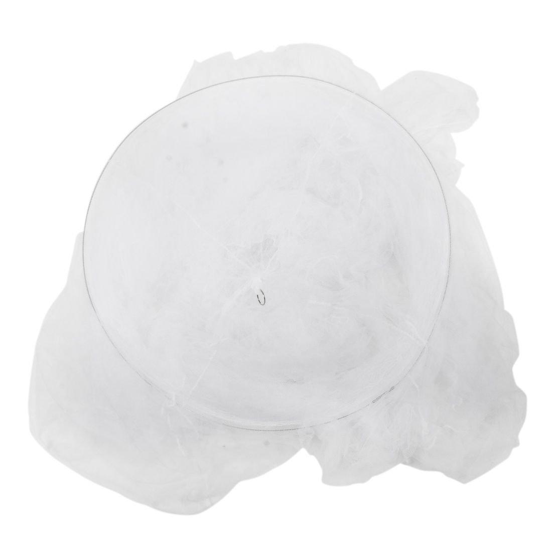 TOOGOO Redonda Mosquitera de Cama de Color Blanco R