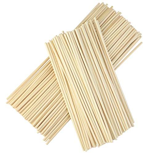 Nydotd 200pcs Wood Rattan Reed Sticks, Reed Diffuser Sticks, Essential Oil Aroma Diffuser Sticks Fiber Reed Diffuser Replacement Refill Sticks for Aroma Fragrance Essential Oil Aromatherapy