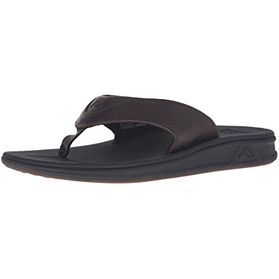 Reef Mens Sandals Rover Le | Premium Real Leather Flip Flops For Men With Soft Cushion Footbed | Waterproof: Shoes
