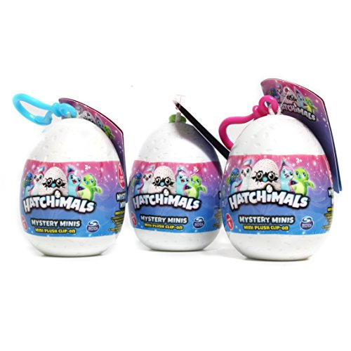 "Hatchimals Keychain, Backpack Clip, 2.5"" (Styles & Colors Vary) (Pack of 3)"