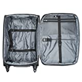 Delsey Luggage Helium Sky Carry-On Expandable Spinner Suiter Trolley, Black, One Size
