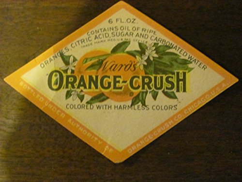 vintage ORANGE-CRUSH soda label, circa 1940s