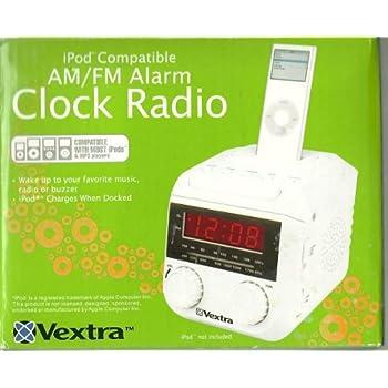 Vextra AM/FM iPod Compatible Clock Radio