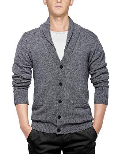 Match Men's Sweater Series Buttoned Cardigan #12088(US L (Tag Size 2XL),Dark Gray) ()