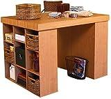 Venture Horizon Project Center Desk with 2 Bookcase Sides- Oak