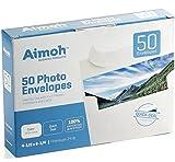 50 White A4 4x6 Photo SELF–SEAL Envelopes - 4.5 x 6.25 Inch, 24lb, White, Strong SELF-SEAL Closure, 50 Envelopes - Ideal for Photos, Invitations (36050)