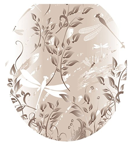 Toilet Tattoos Toilet Seat  Cover Decal, Fields of Taupe,...