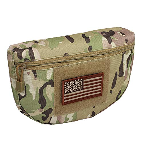 WYNEX Tactical Dump Drop Pouch, Armor Carrier Drop Pouch Hunting EDC Utility Bag Combat Gear Airsoft Skirmish for AVS JPC CPC AVS Tactical Vest Include U.S Patch ()