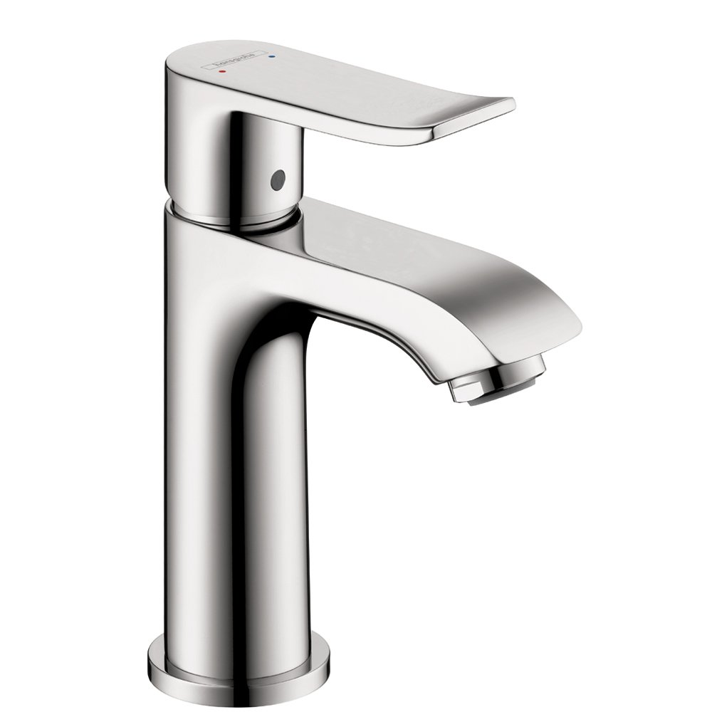 Hansgrohe 31088001 Metris 100 Single-Hole Faucet, Chrome - Bathroom ...