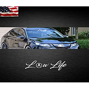 Amazon Com Black Front Bumper Letter Inserts For Acura Tl