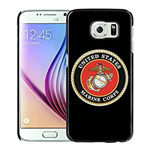 New Fashion Custom Designed Cover Case For Samsung Galaxy S6 With US Marine Corps Black Phone Case
