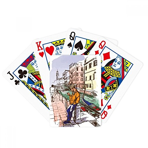 Italy Venice Landscape National Pattern Poker Playing Cards Tabletop Game Gift by beatChong
