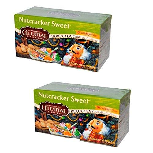 Celestial Seasonings Nutcracker Sweet Black Tea, 20 Bags (Pack of 2)