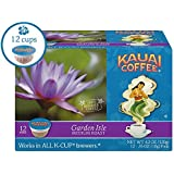 Kauai Coffee Single-serve Pods, Garden Isle Medium Roast – 100% Premium Arabica Coffee from Hawaii's Largest Coffee Grower, Keurig-Compatible Cups - 12 Count