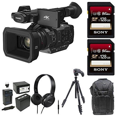 Panasonic HC-X1 4K Ultra HD Professional Camcorder (Black) (Deluxe Bundle) by Panasonic