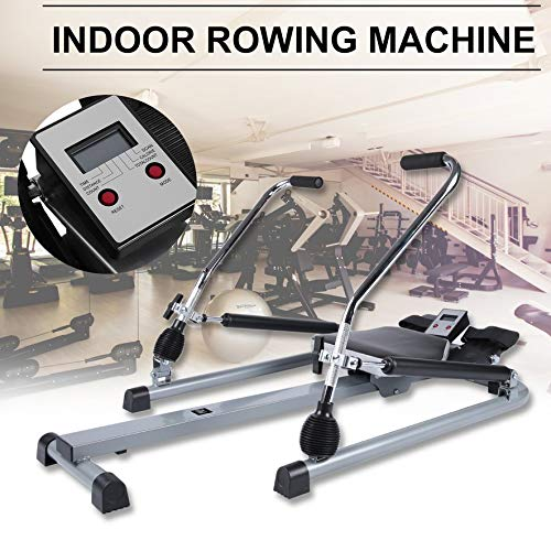 Belovedkai Rowing Machine, Body Glider Rower Adjustable Resistance Abdominal Muscle Machine for Home Gym Fitness Training