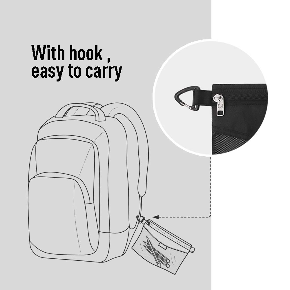 Office School pack all All-Purpose Waterproof Material Travel Packing Pouches Storage Packing Bag with Zipper for Travel Arts Outdoor (Grey Small)
