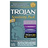 Gift Set of Trojan Sensitivity Pack (10) And Wittle Wanachi (Blue)