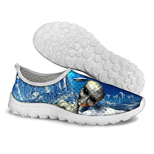 chic FOR U DESIGNS Stylish Unisex Women s   Men s Galaxy Print Mesh  Lightweight Breathable Running Shoes 2f05944b9