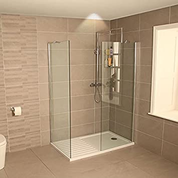 AquaLine 1400 Walk In Shower Enclosure with Tray Amazoncouk