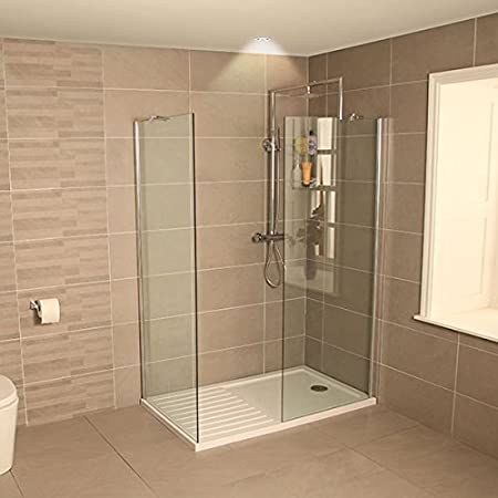 AquaLine 1400 Walk In Shower Enclosure with Tray: Amazon.co.uk: DIY ...