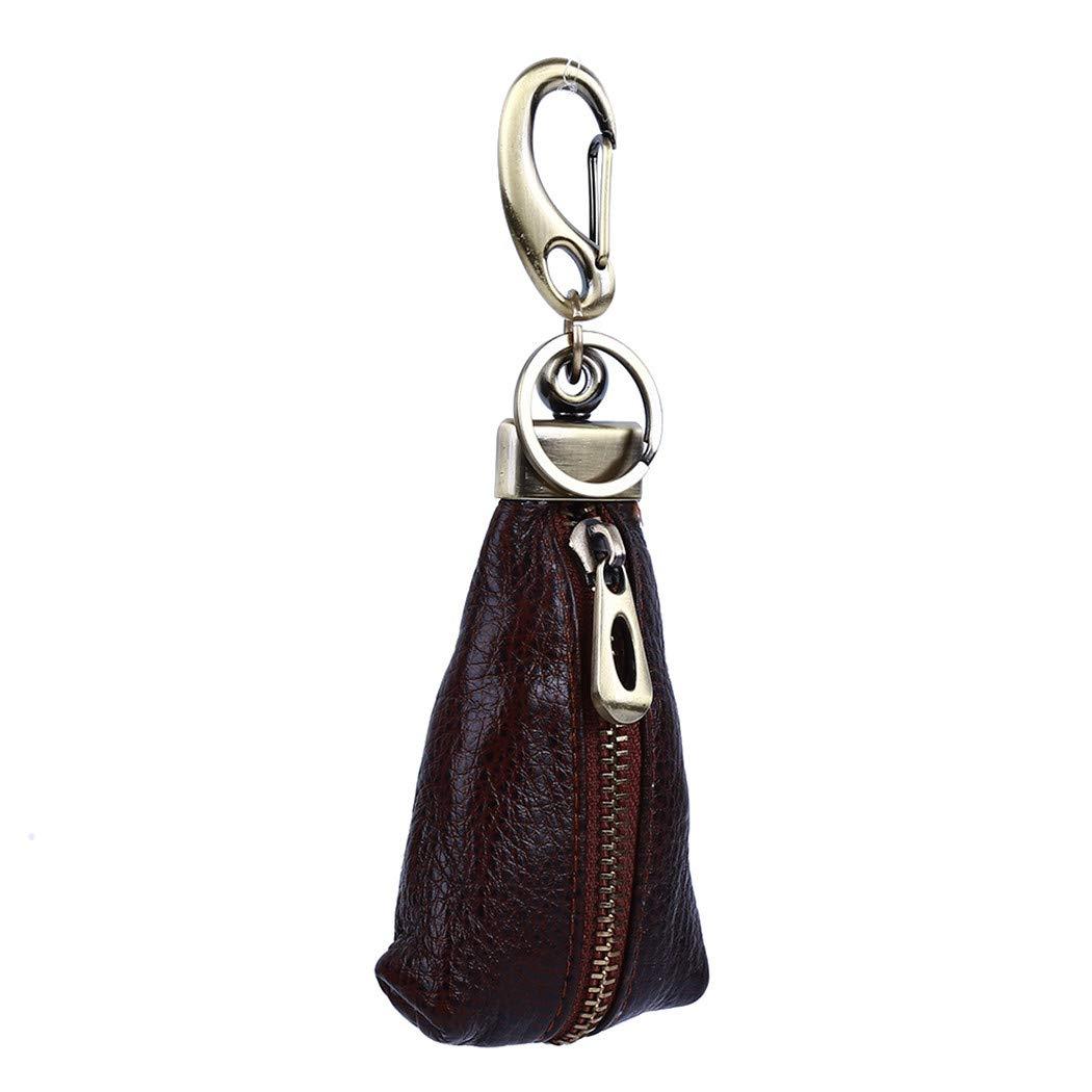 LUCM Men Key Wallet Car Key Purses Zipper Waist Hanging Case Pouch