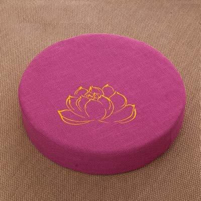 YUMUO Round Thicken Cojin De Asiento,Tatami Transpirable Comodo Cojin Suelo con Print,Lavable Cojin De Silla para Home Decor F 30x45x10cm(12x18x4inch)