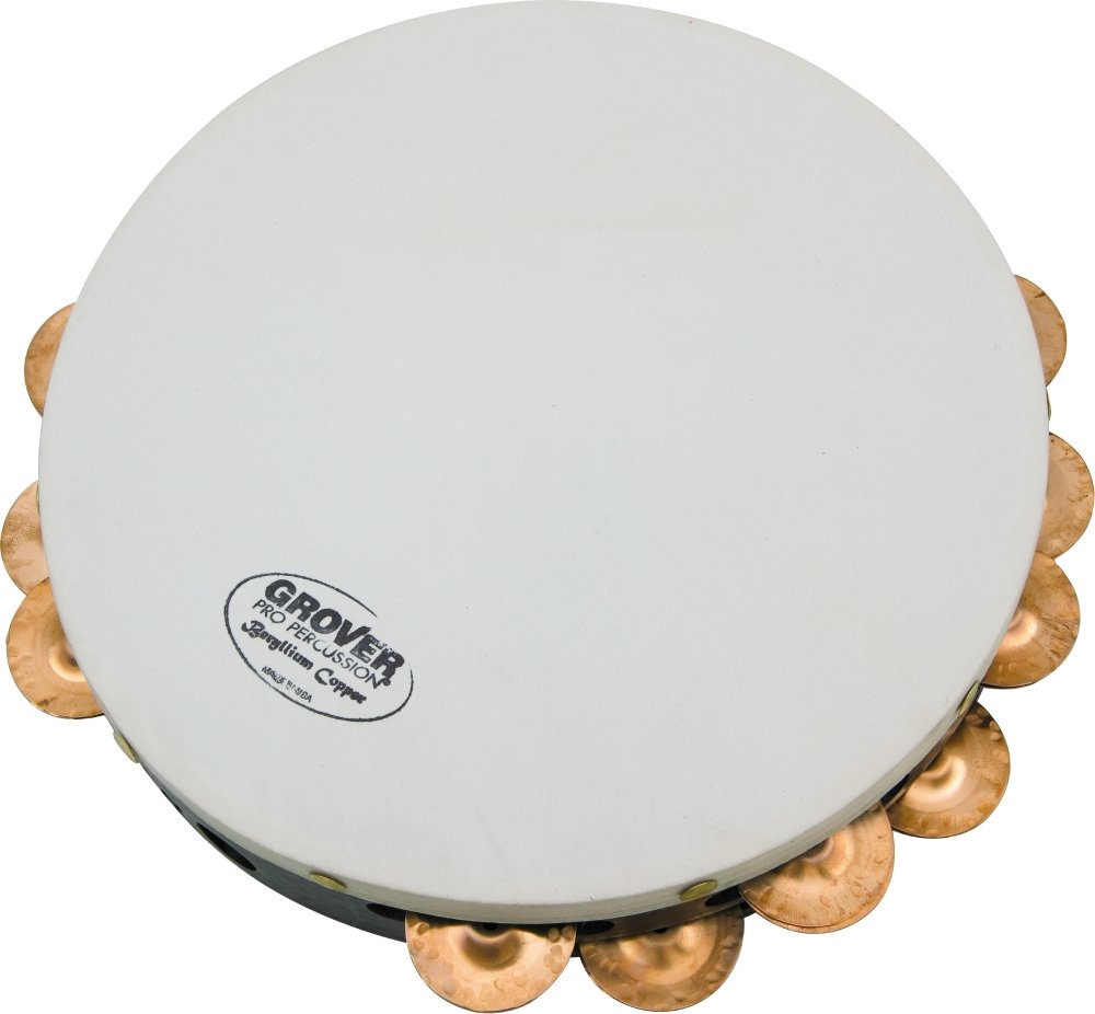 Grover Pro Projection-Plus Double Row Tambourines Custom Dry Copper 10 in. T2/HTC