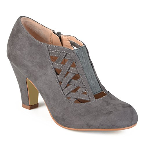 - Journee Collection Womens Round Toe High Heel Booties Grey, 7 Regular US
