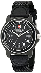Victorinox Men's 249090 Original Analog Display Swiss Quartz Black Watch