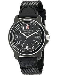 Victorinox Mens 249090 Original Analog Display Swiss Quartz Black Watch