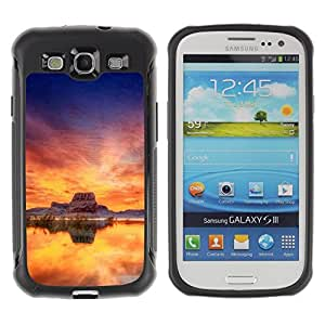 """Hypernova Defender Series TPU protection Cas Case Coque pour Samsung Galaxy S3 III I9300 [Sunset Beautiful Nature 35""""]"""